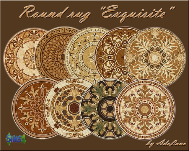 "Round rug ""Exquisite"" by AdeLana"