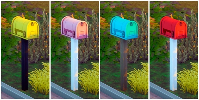 Colorful Mailboxes by ReticulatedSplines