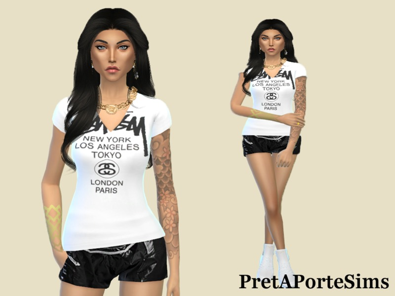 Ladies T-shirt  BY PretAPorteSims