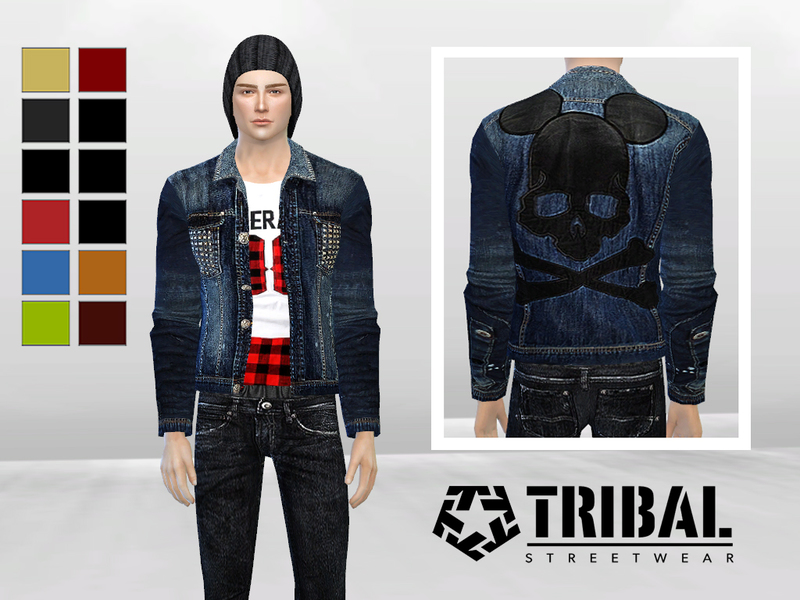 Studded Biker Denim Jacket BY McLayneSims