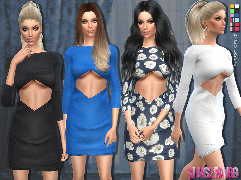 83 - Open dress BY sims2fanbg