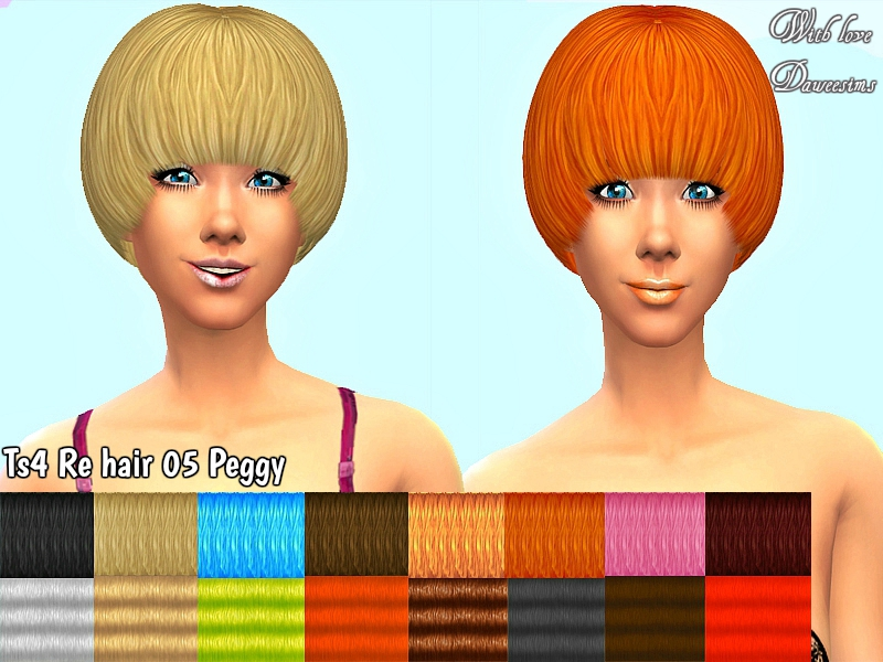 Ts4 Re hair 05 Peggy by Daweesims