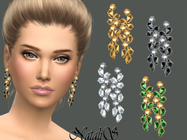 NataliS_Crystals and beads earrings