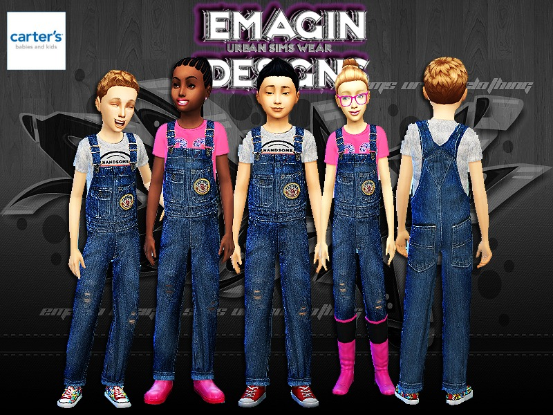 Girls & Boys Carter Overalls w/Tee  BY emagin360