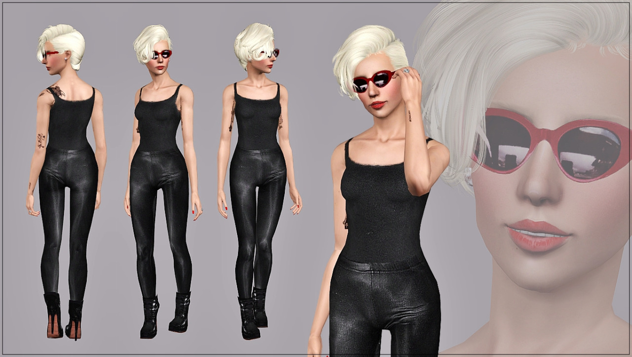 Black Spandex Outfit от Art Sims
