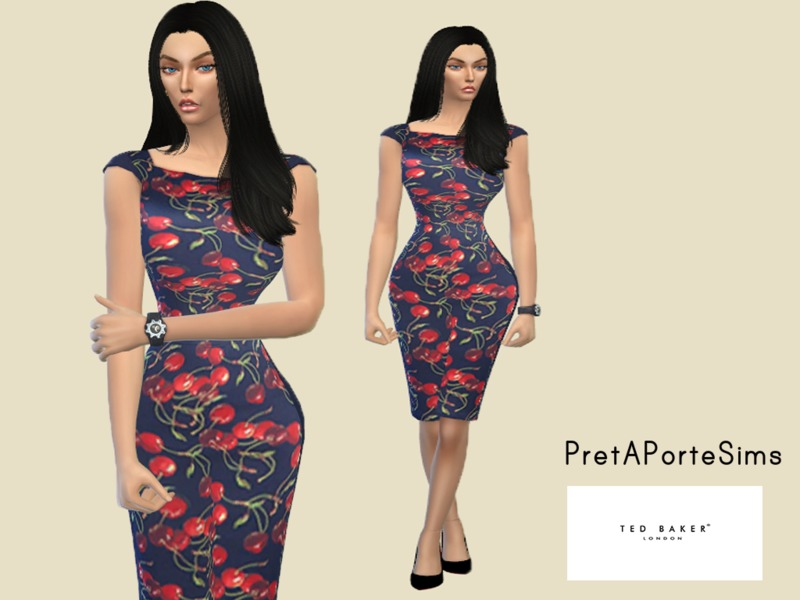 Blue dress BY PretAPorteSims