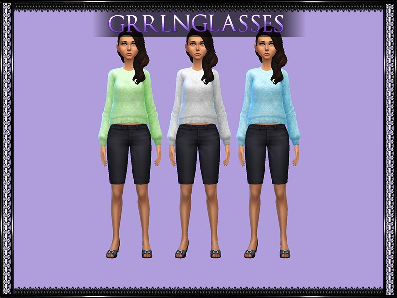 Mysimlifefou's Sweatshirt - Recolors Requires Mesh BY grrlnglasses