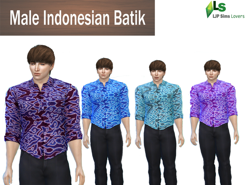 Male Indonesian Batik BY LJP-Sims