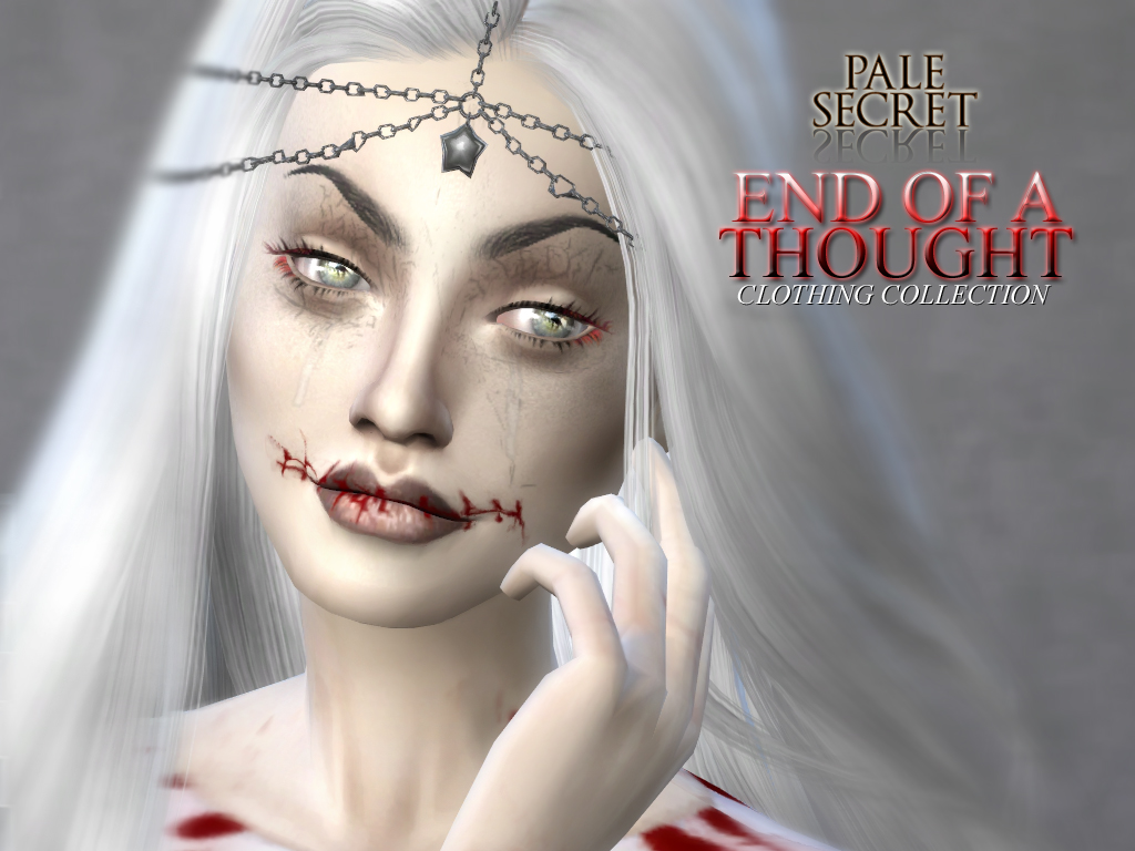 End Of A Thought 90 Bloody Clothing Recolors by PralineSims - PaleSecret
