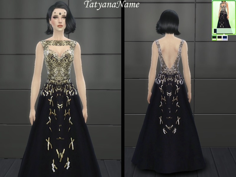 TatyanaName - Black official dress with sequins  BY TatyanaName