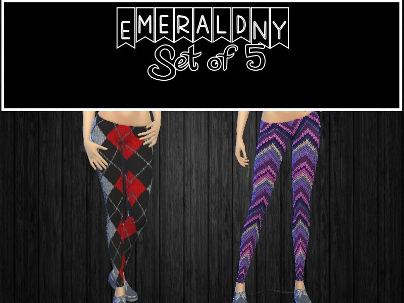 Sweater Tights Set of 5 BY EmeraldNY
