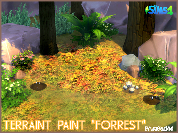 Forest Terrain Paints by WaterWoman
