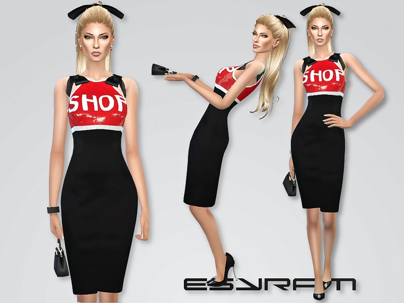 Sequin Embellished Shop Dress   BY EsyraM