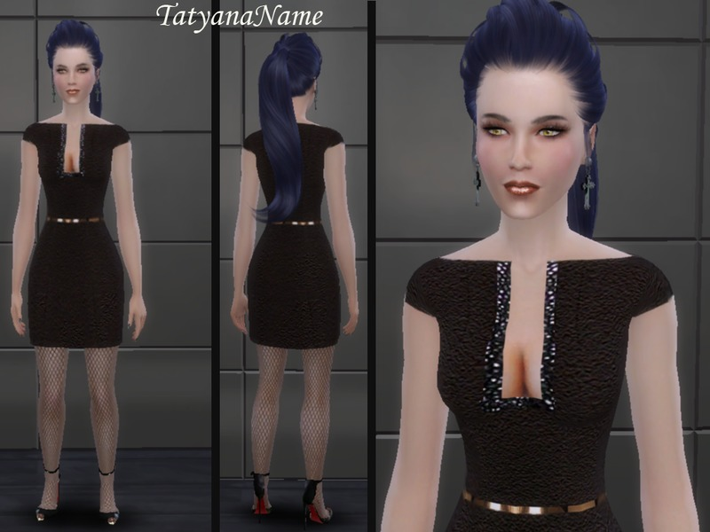 Short black formal dress BY TatyanaName