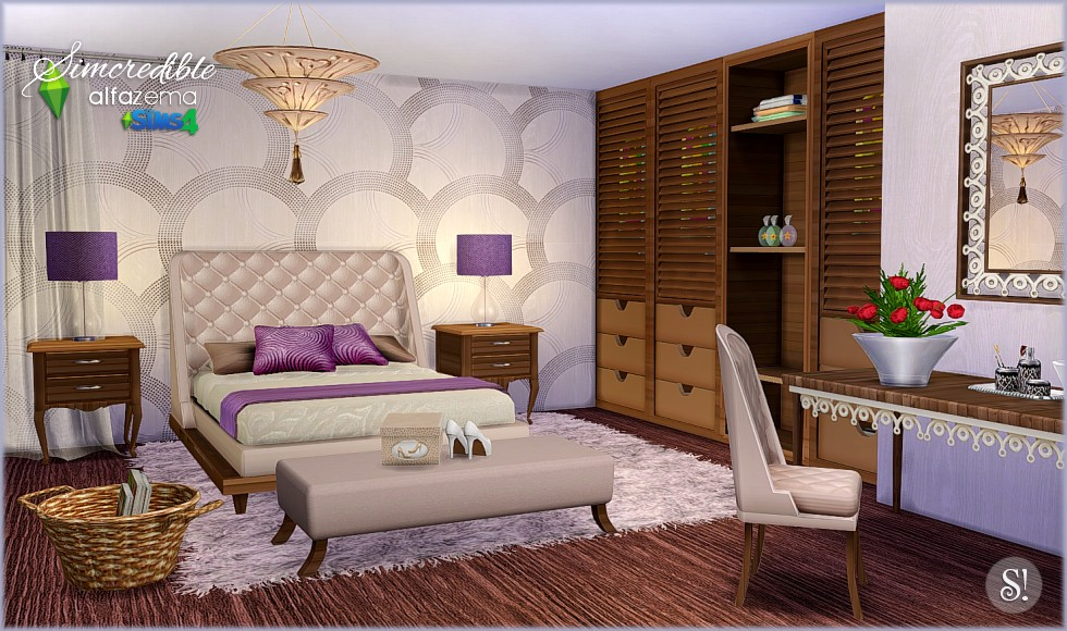 Alfazema Bedroom Set by Simcredible Designs