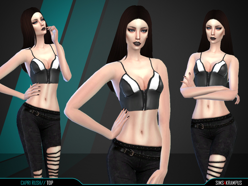 Capri Rush Top  BY SIms4Krampus