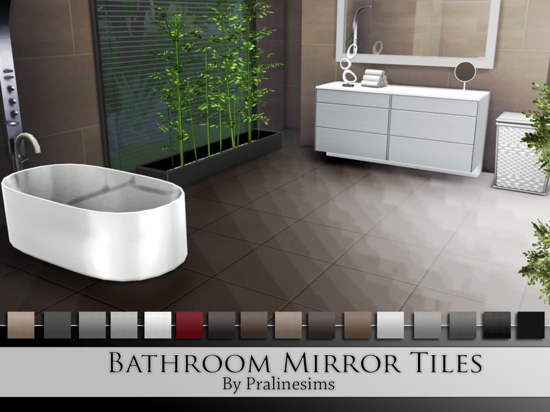 Bathroom Mirror Tiles.  BY Pralinesims