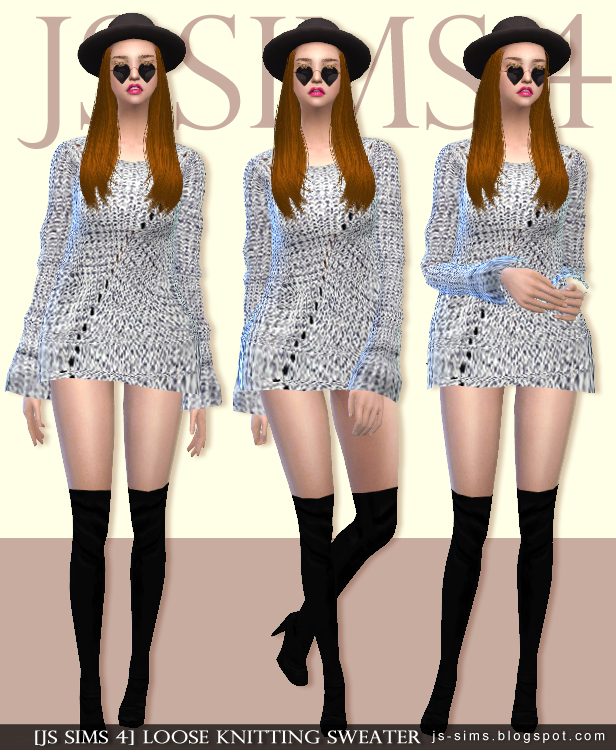 LOOSE KNITTING SWEATER By JS SIMS 4