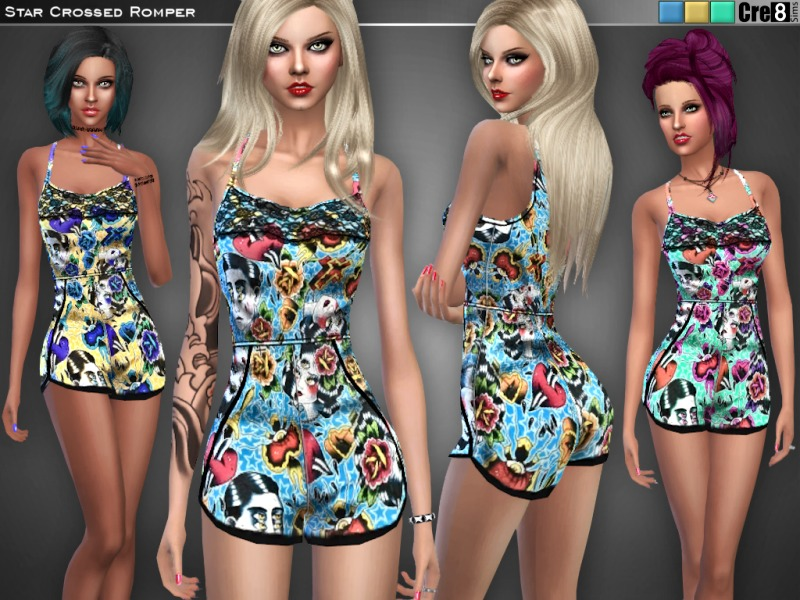 Star Crossed Romper  BY Cre8Sims