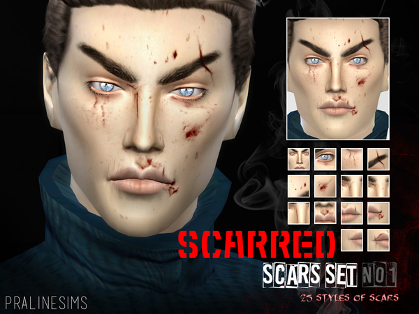 SCARRED ~ Scars Set 01  25 Styles by Pralinesims