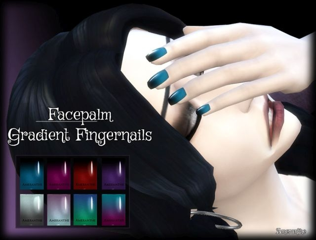 Facepalm: Gradient Fingernails by Ameranthe