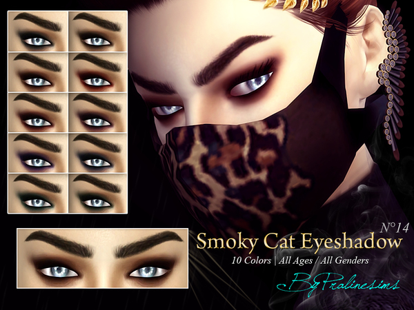Smoky Cat Eyeshadow  N14 by Pralinesims