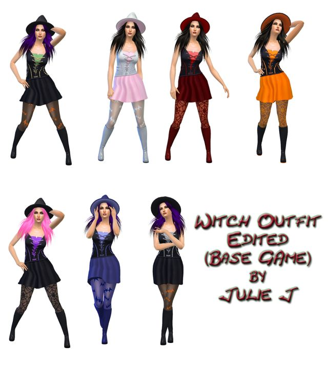 Spooky Witch Outfit Edited (Base Game) by Julie J