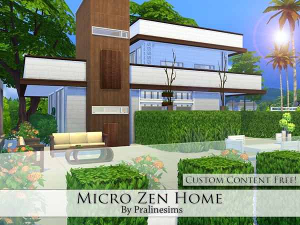 Micro Zen Home by Pralinesims