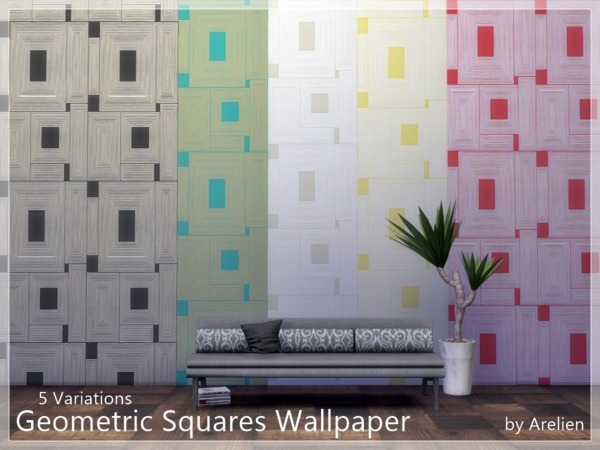 Geometric Squares Wallpaper by Arelien