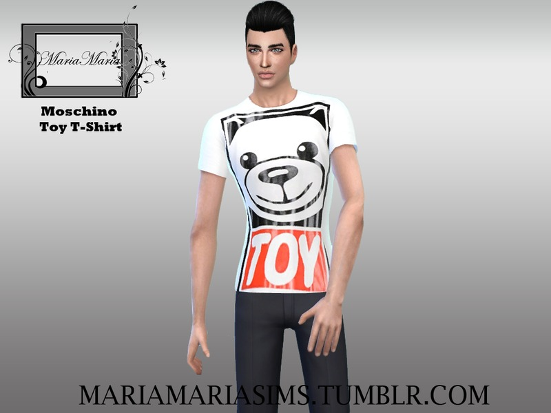 Moschino Toy T-Shirt Male  BY MariaMariaSims