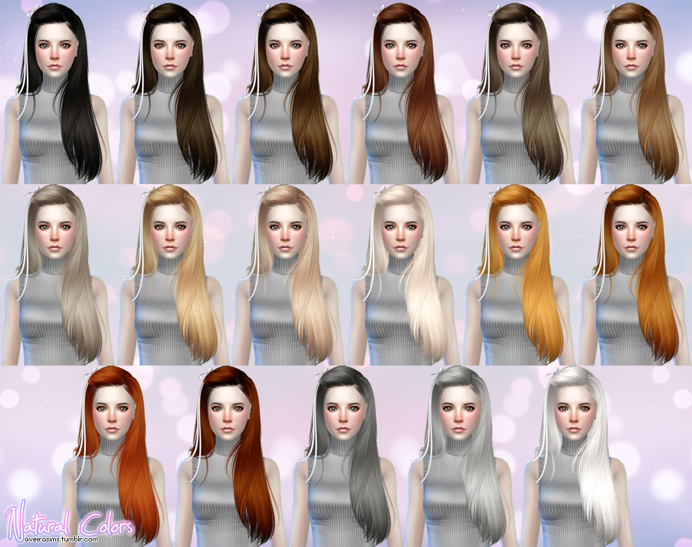 Butterflysims 099 Hair Retexture in 60 Colors by AveiraSims