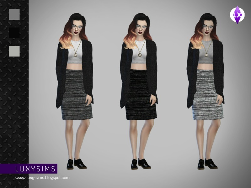 Pencil Skirt   BY LuxySims3