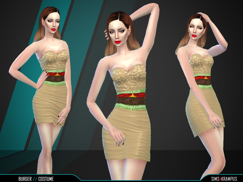 Burger Dress  BY SIms4Krampus