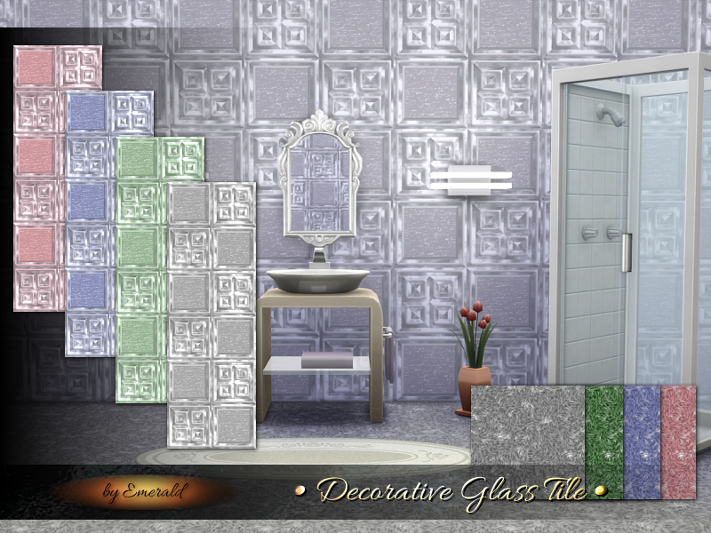 Decorative Glass Tile  BY emerald
