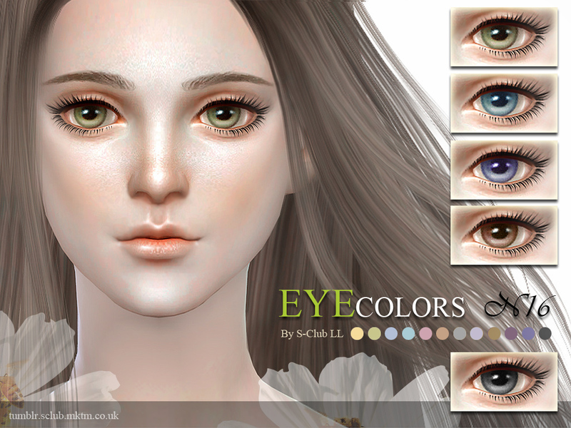 S-Club LL thesims4 eyecolors 16  BY S-Club