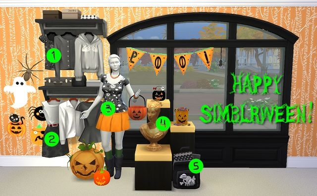 A Halloween Themed Maxis Match Gift Pack by CowPlantCake