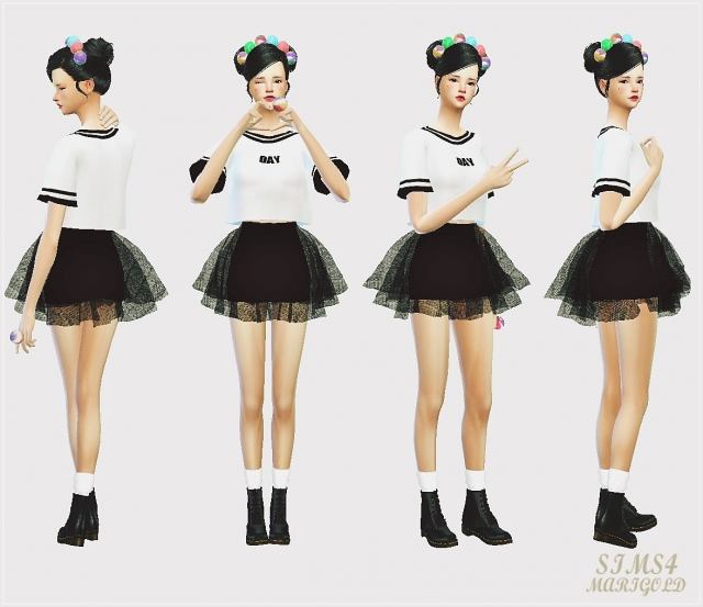 voluminous ballerina mini skirt v1 (solid color) by Marigold