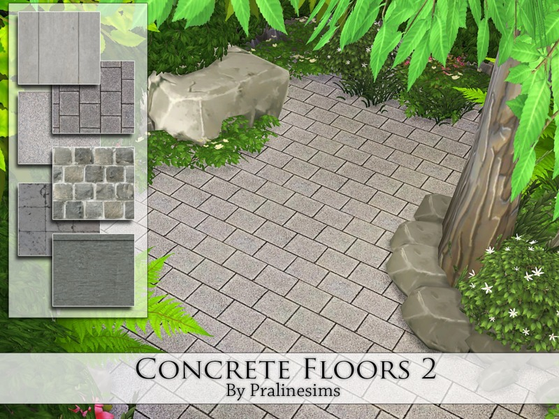 Concrete Floors 2  BY Pralinesims