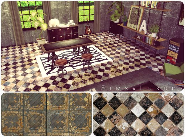 Old Tiles floor by Sims4Luxury