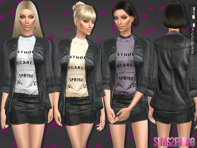 86 - Leather outfit  BY sims2fanbg