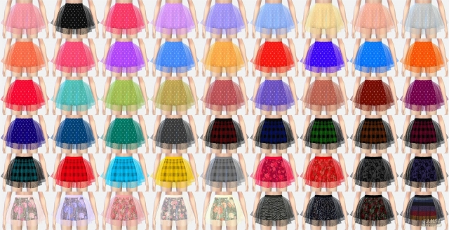 voluminous ballerina mini skirt v2 (pattern) by Marigold