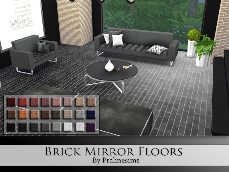 Brick Mirror Floors BY Pralinesims