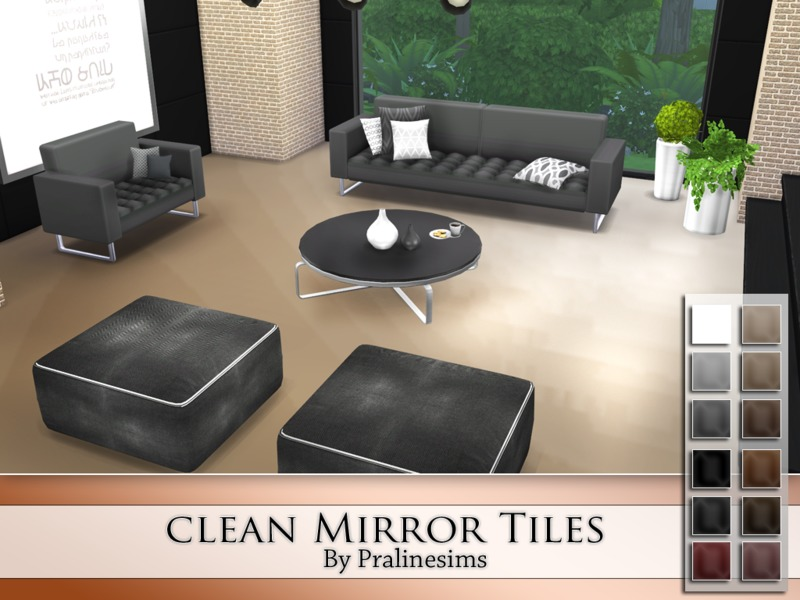Clean Mirror Tiles  BY Pralinesims