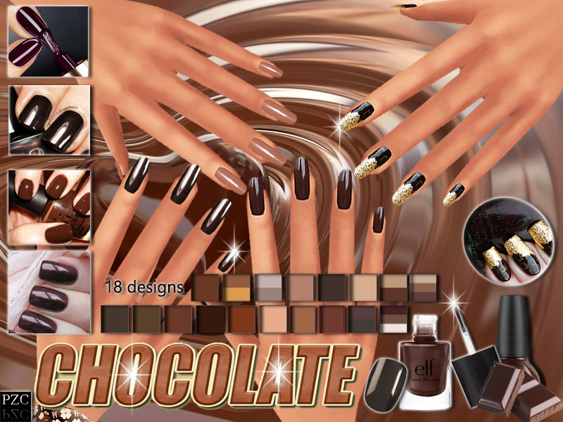 PZC_Chocolate_Nails_Collection BY Pinkzombiecupcakes