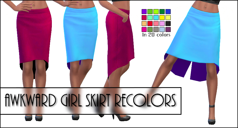 Awkward Skirt in 20 Recolors by BlindingEchoes