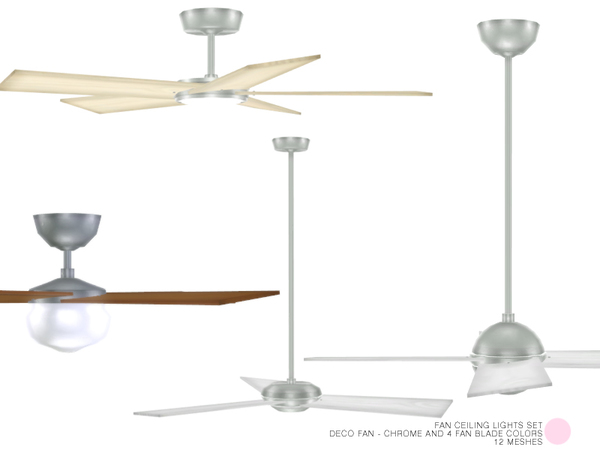 Fan Ceiling Lights Set by DOT