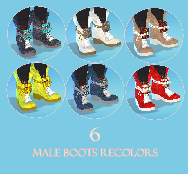 Marigold Boot in 6 Recolors for Males & Females by BLewis