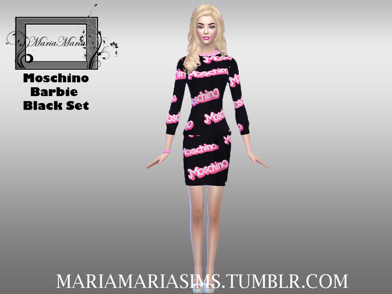 Moschino Barbie Black Set  BY MariaMariaSims