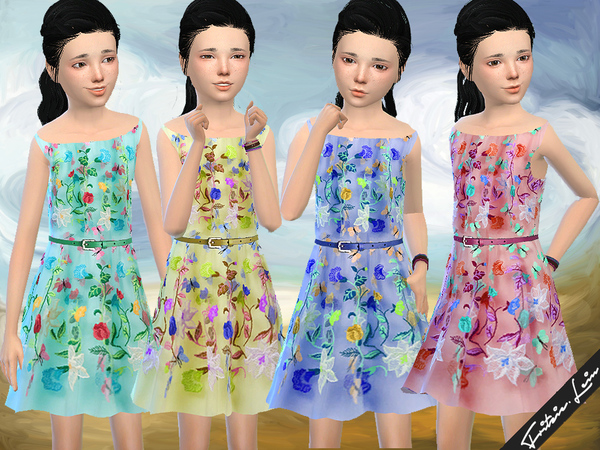 Floral Tulle Dress by Fritzie.Lein