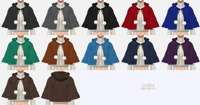 female hood cape coat by Marigold